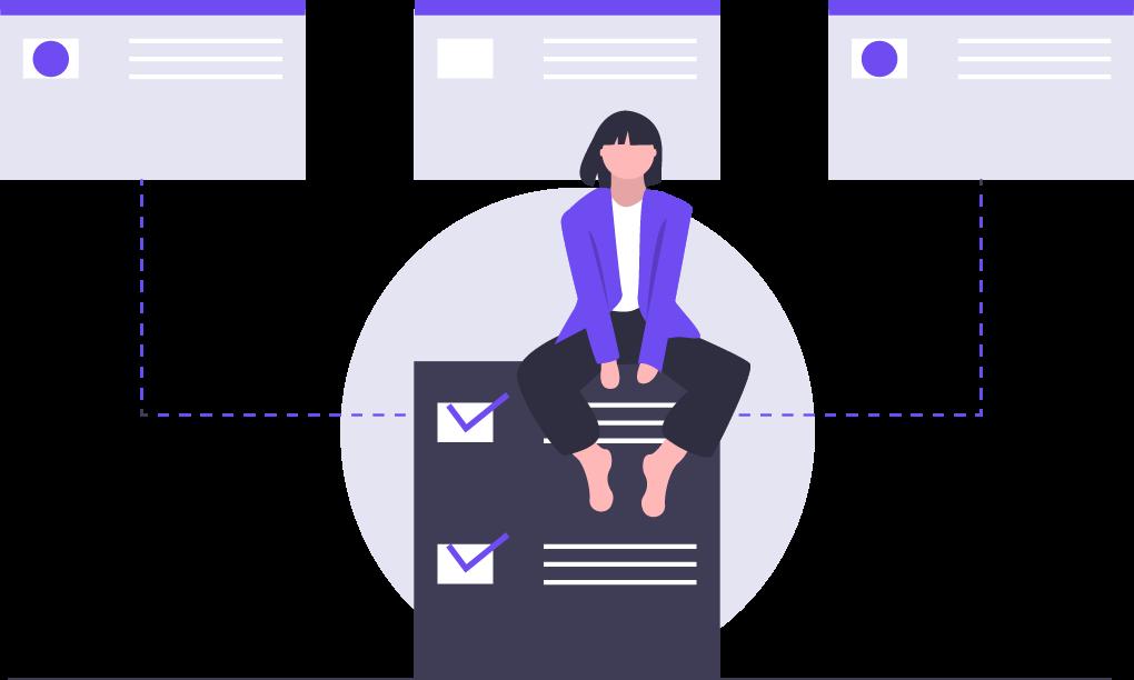 undraw_online_organizer_ofxm-3 Chats de tu empresa en un solo lugar - Plataforma multiagente
